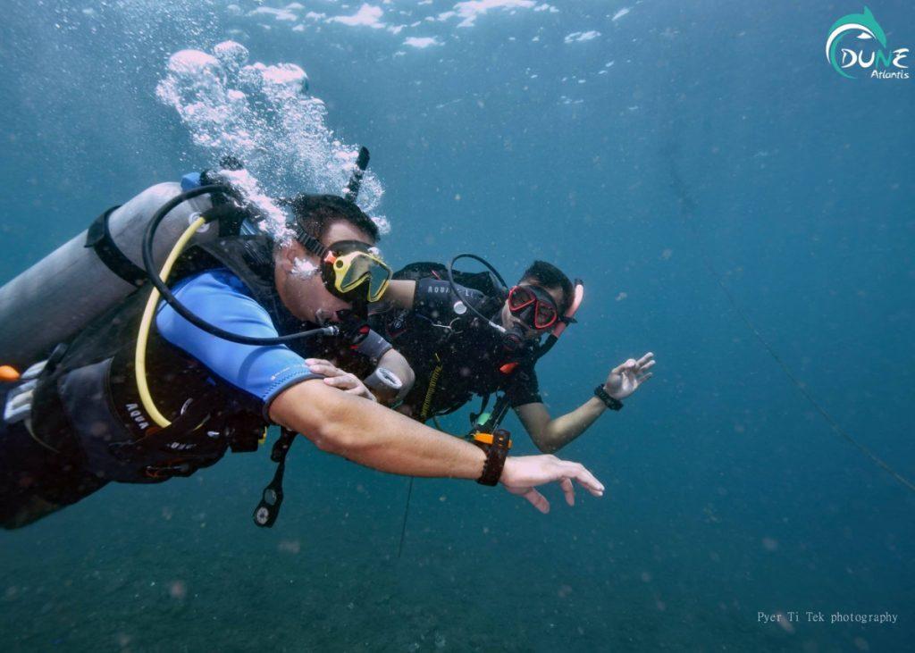 Cours Open Water Bali: restez à vos côtés!